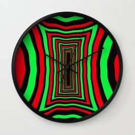 """Overwork """"Chilli Lime"""" Wall Clock"""