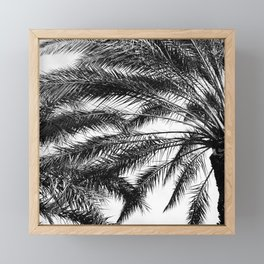 Palm Trees in Noir Entwining in a Tropical Breeze Framed Mini Art Print