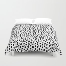 Dalmatian Spots (black/white) Duvet Cover