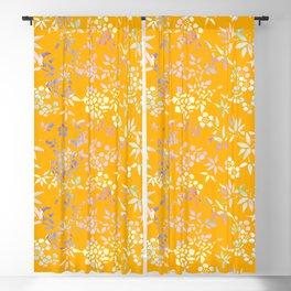 bamboo and plum blossom Blackout Curtain