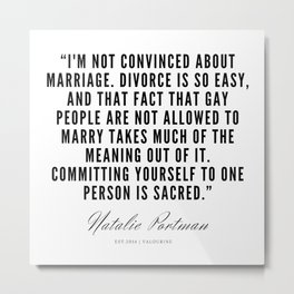 9   | Natalie Portman Quotes | 190721 Metal Print