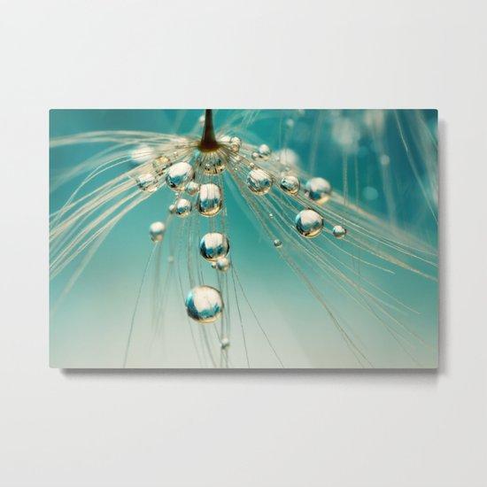 Dandy Blue Sprinkles Metal Print