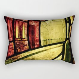 Lamplight Street Rectangular Pillow