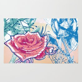 Blossoming rose Rug