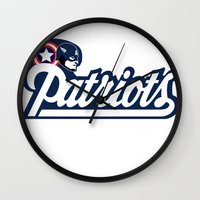 patriots Wall Clocks featuring American Patriots by SuperEdu