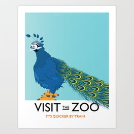 Visit the Zoo Peacock edition Art Print