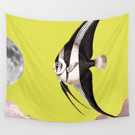 Plenty of fish in the sea yellow Wall Tapestry