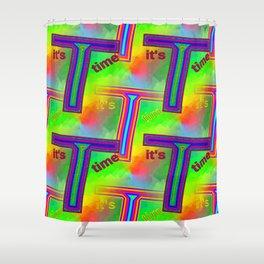 T - pattern 3 Shower Curtain