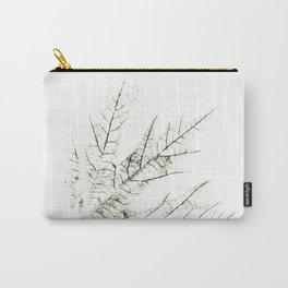 Maple Leaf Silhouette On  White Background Carry-All Pouch