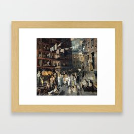 Cliff Dwellers, by George Bellows Framed Art Print
