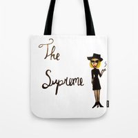 coven Tote Bags featuring The Supreme by Dax M