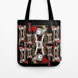 BLACK KING OF HEARTS CASINO PLAYING CARDS FROM Tote Bag