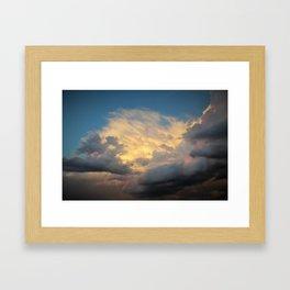 Angry Skies, Sad Goodbyes Framed Art Print