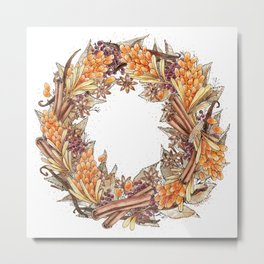 Sea Buckthorn Metal Print
