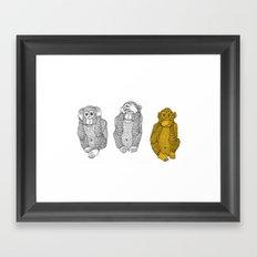 Silence Is Golden Framed Art Print