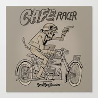 cafe racer Canvas Prints featuring Cafe racer by Marquetto