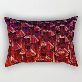 Abstract Brown Glass Bottles Rectangular Pillow