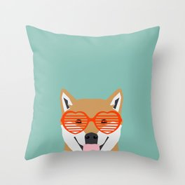Shiba Inu Love - Gifts for pet owners dog person gifts shiba inu gifts customizable dog gifts cute Throw Pillow