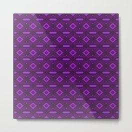 bc - pattern, otherwise, lilac ... Metal Print