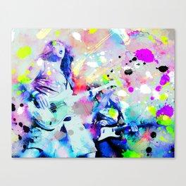 Iron Maiden on stage Canvas Print