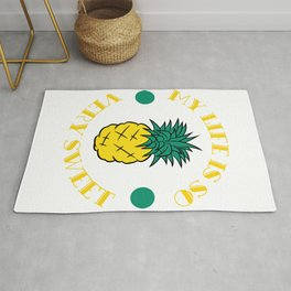 """""""My Little Pineapple Is So Very Sweet"""" tee design. Makes a nice and cute gift this holiday too!  Rug"""