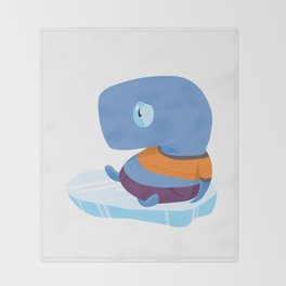 Mopi, the Whale Detective, Adrift at the North Pole Throw Blanket