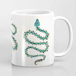Emerald & Gold Serpent Coffee Mug