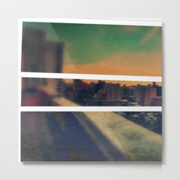 Collage City Triptych Left Metal Print