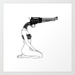 no, I don't have a gun Art Print