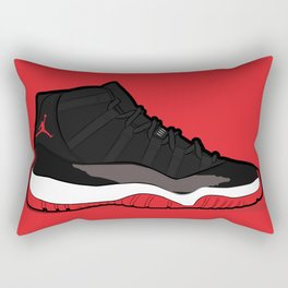 "Air Jordan XI Retro ""Bred"" Rectangular Pillow"