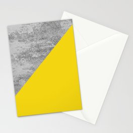 Simply Concrete Mod Yellow Stationery Cards