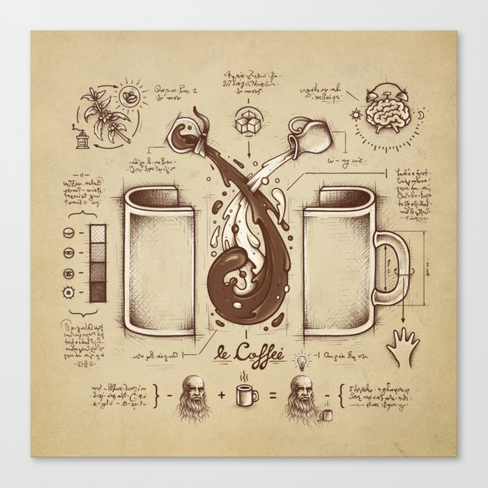 Le Coffee (Fluid of Creativity) Leinwanddruck