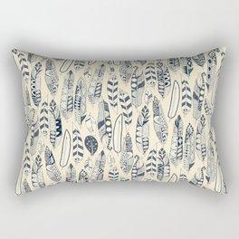 joyful feathers cream Rectangular Pillow
