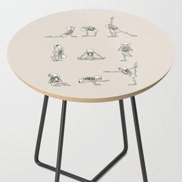 Skeleton Yoga Side Table
