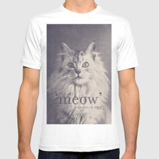 Famous Quotes #2 (anonymous cat, 1952) MEDIUM Mens Fitted Tee White