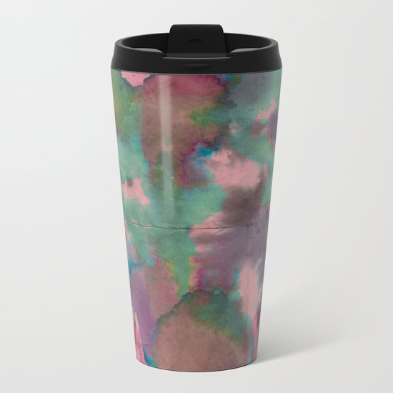Pink Tie-dye Metal Travel Mug