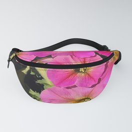 Pops of Pink Petunias With Magenta Hues Fanny Pack