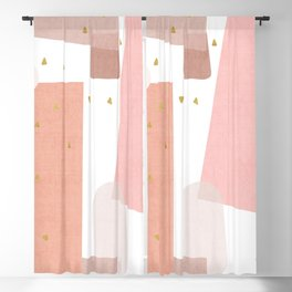 Confetti in Pink Blackout Curtain