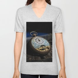 Time Peace - Pun intended Unisex V-Neck