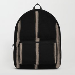 Skinny Strokes Gapped Vertical Nude on Black Backpack
