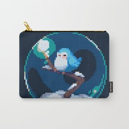 Snow Bird Globe Carry-All Pouch