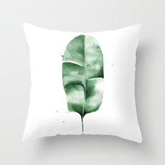 Banana Leaf no.5 Throw Pillow