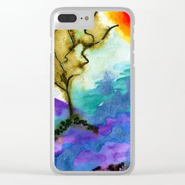 Galapagos Sandscape #Abstract #Watercolors Clear iPhone Case