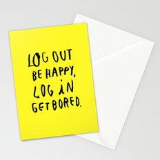 LOG OUT Stationery Cards
