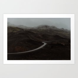 A road in Iceland Art Print