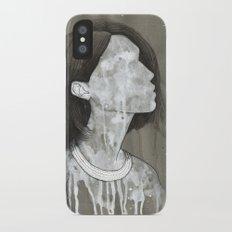 girl with a silver trabzon hasırı necklace iPhone X Slim Case