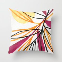 Sun and leaves Throw Pillow