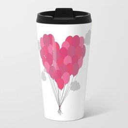 Balloons arranged as heart Travel Mug
