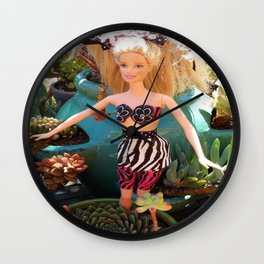 Jungle Barbie Wall Clock