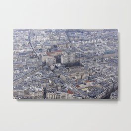 City top view Metal Print